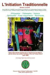 Revue L'Initiation Traditionnelle, numéro 3 de 2016