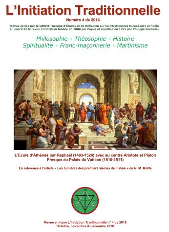 Revue L'Initiation Traditionnelle, numéro 4 de 2016