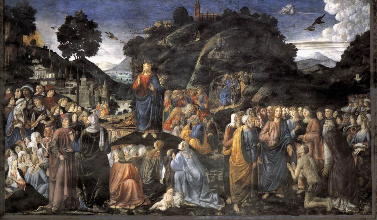 Cosimo Rosselli - Chapelle Sixtine - Le Sermon sur la Montagne
