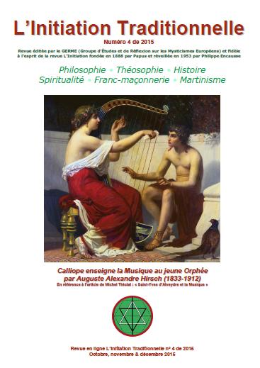 Revue L'Initiation Traditionnelle, numéro 4 de 2015